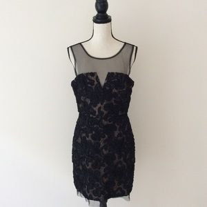 BCBG Max Azria Deep Plunge Bombshell dress 10